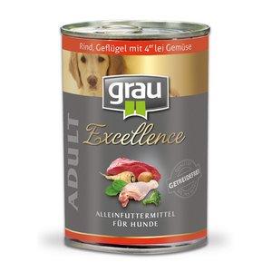 Grau blikvoer Rundvlees en gevogelte met leigroenten 400gr