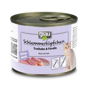 Grau kitten menu met kalkoen & forel 200 gr.