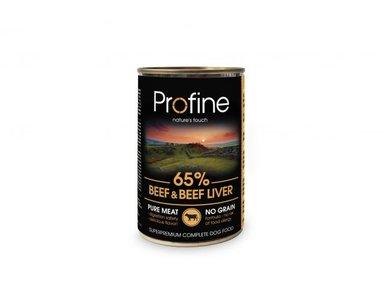 Profine blikvoer  graan vrij rund  en runderlever 400 gr