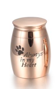 Mini urn  hond  roze  40 mm