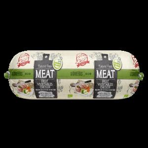 Natural Fresh Meat Biologisch Honden Worst Fruit-groente-Kip 600 gr