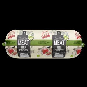 Natural Fresh Meat Biologisch Honden Worst rundvlees kip 600 gr.