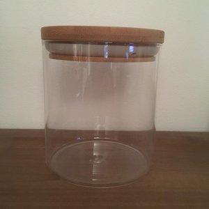 koekjes pot glas met bamboe deksel .