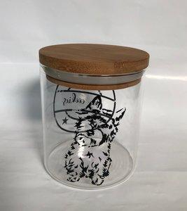 Cairn terrier koekjes pot glas