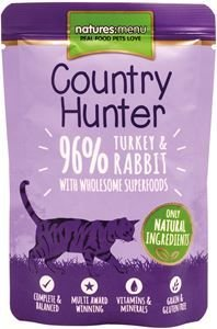 Natures Menu Cat Country Hunter Turkey & Rabbit 85 gram