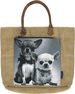 canvas shopper 2 chihuahuas