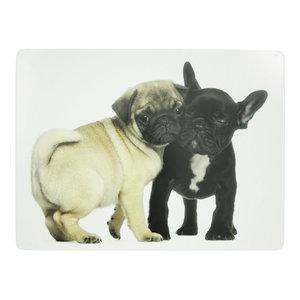 Placemat mops en franse bulldog  4st.