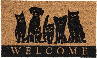 Deurmat met honden en katten