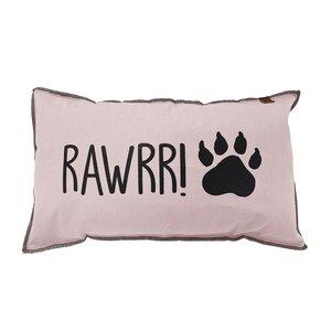 Sierkussen roze  hondenpoot  canvas rawrri