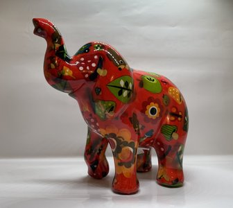 Pomme pidou olifant zara rood met padestoelen