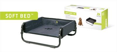 SOFT BED™ 71  Kleur: antraciet. Opvouwbaar bed, beschermend, met dik schuimrubber bekleed